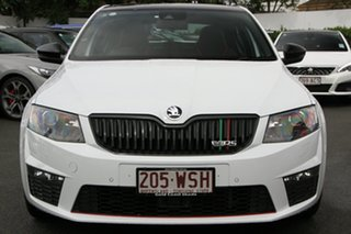 2016 Skoda Octavia NE MY16 RS Sedan DSG 162TSI White 6 Speed Sports Automatic Dual Clutch Liftback.