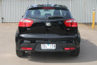 2013 Kia Rio UB MY13 SLi Black 6 Speed Manual Hatchback