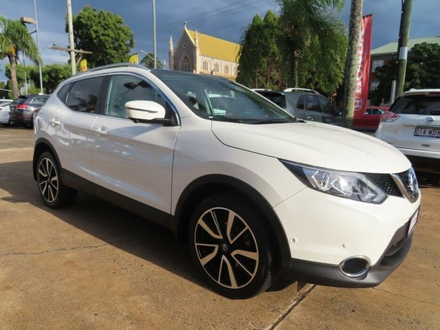 Used Nissan Qashqai J11 MY18 TI Toowoomba, 2017 Nissan Qashqai J11 MY18 TI White Continuous Variable Wagon