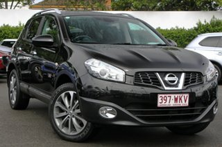 2010 Nissan Dualis J10 MY2009 Ti X-tronic AWD Black 6 Speed Constant Variable Hatchback.