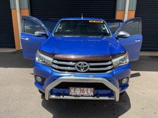 2016 Toyota Hilux GUN126R SR5 Double Cab Blue 6 Speed Sports Automatic Utility.