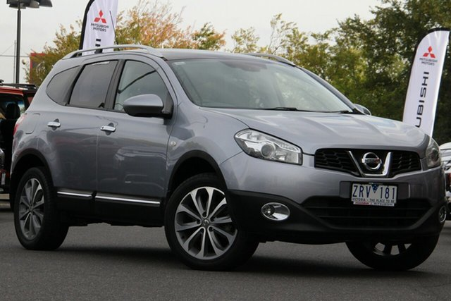 Used Nissan Dualis J107 Series 3 MY12 +2 Hatch X-tronic 2WD Ti Essendon Fields, 2013 Nissan Dualis J107 Series 3 MY12 +2 Hatch X-tronic 2WD Ti Grey 6 Speed Constant Variable