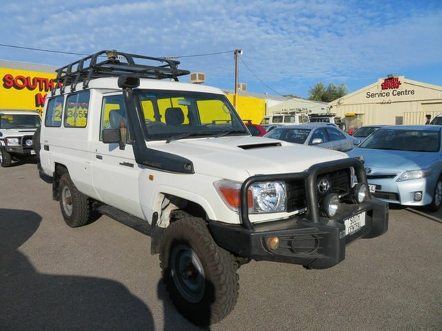 Used Toyota Landcruiser VDJ78R Workmate (4x4) 11 Seat Morphett Vale, 2009 Toyota Landcruiser VDJ78R Workmate (4x4) 11 Seat White 5 Speed Manual TroopCarrier