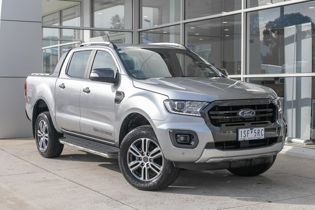Used Ford Ranger PX MkIII 2020.75MY Wildtrak Ferntree Gully, 2020 Ford Ranger PX MkIII 2020.75MY Wildtrak Silver 10 Speed Sports Automatic Double Cab Pick Up
