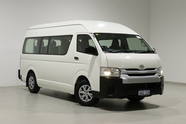 Used Toyota HiAce KDH223R MY15 Commuter Bentley, 2015 Toyota HiAce KDH223R MY15 Commuter White 4 Speed Automatic Bus