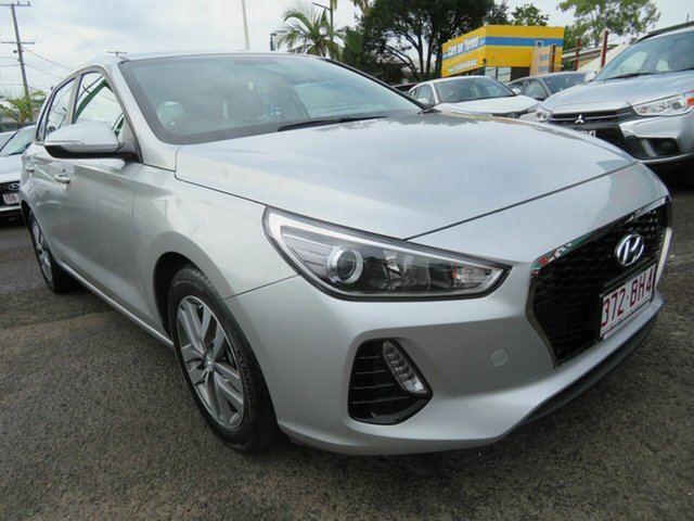 Used Hyundai i30 PD2 MY19 Active Mount Gravatt, 2019 Hyundai i30 PD2 MY19 Active Silver 6 Speed Sports Automatic Hatchback