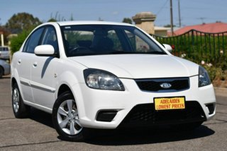 2009 Kia Rio JB MY07 EX White 4 Speed Automatic Sedan.