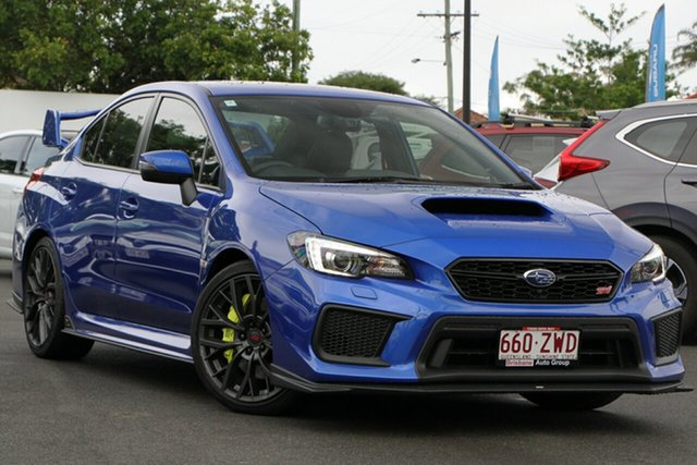 Used Subaru WRX V1 MY20 STI AWD spec.R Mount Gravatt, 2019 Subaru WRX V1 MY20 STI AWD spec.R Blue 6 Speed Manual Sedan