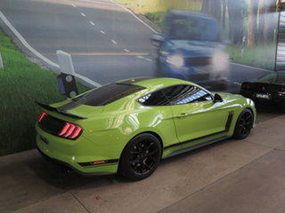 2020 Ford Mustang FN MY20 R-Spec Black & Lime Green 6 Speed Manual Fastback.