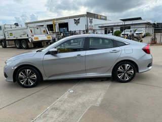 2018 Honda Civic 10th Gen MY18 VTi-LX Silver/170718 1 Speed Constant Variable Sedan
