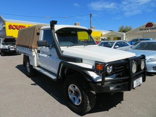 2002 Toyota Landcruiser HZJ79R (4x4) White 5 Speed Manual 4x4 Cab Chassis.