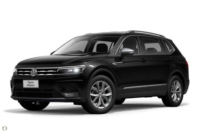 Demo Volkswagen Tiguan 5N MY21 110TSI Comfortline DSG 2WD Allspace Moorabbin, 2020 Volkswagen Tiguan 5N MY21 110TSI Comfortline DSG 2WD Allspace Black 6 Speed