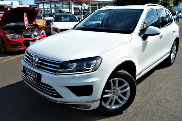 Used Volkswagen Touareg 7P MY16 150TDI Tiptronic 4MOTION Element Seaford, 2015 Volkswagen Touareg 7P MY16 150TDI Tiptronic 4MOTION Element White 8 Speed Sports Automatic