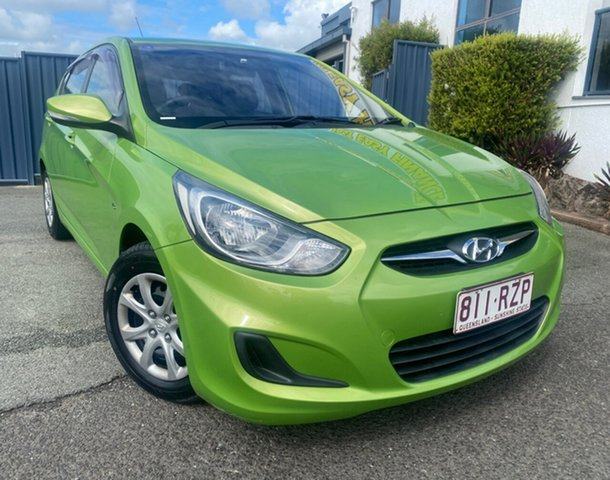 Used Hyundai Accent RB Active Slacks Creek, 2011 Hyundai Accent RB Active Green 5 Speed Manual Hatchback