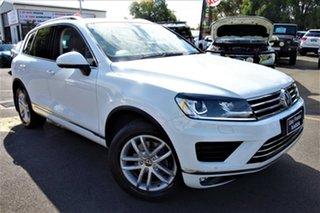 2015 Volkswagen Touareg 7P MY16 150TDI Tiptronic 4MOTION Element White 8 Speed Sports Automatic.