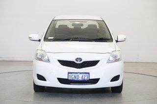 2012 Toyota Yaris NCP93R MY11 YRS White 4 Speed Automatic Sedan.