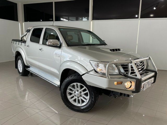Used Toyota Hilux KUN26R MY14 SR5 Double Cab Deer Park, 2014 Toyota Hilux KUN26R MY14 SR5 Double Cab Silver, Chrome 5 Speed Automatic Utility