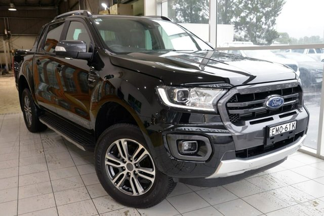 Used Ford Ranger PX MkIII 2020.25MY Wildtrak West Gosford, 2020 Ford Ranger PX MkIII 2020.25MY Wildtrak Black 10 Speed Sports Automatic Double Cab Pick Up