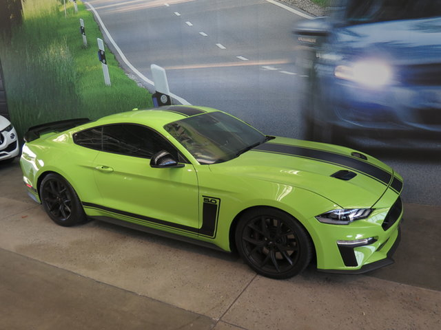 Used Ford Mustang FN MY20 R-Spec Osborne Park, 2020 Ford Mustang FN MY20 R-Spec Black & Lime Green 6 Speed Manual Fastback