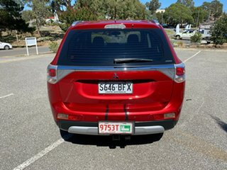 2014 Mitsubishi Outlander ZJ MY14.5 ES 4WD Red/Black 6 Speed Constant Variable Wagon