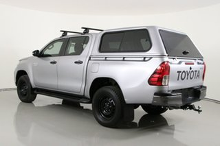 2018 Toyota Hilux GUN126R MY19 SR (4x4) Silver 6 Speed Manual Double Cab Pick Up
