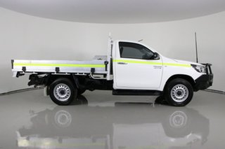 2016 Toyota Hilux GUN126R SR (4x4) White 6 Speed Manual Cab Chassis