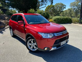 2014 Mitsubishi Outlander ZJ MY14.5 ES 4WD Red/Black 6 Speed Constant Variable Wagon.