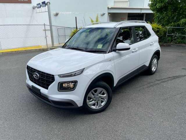 New Hyundai Venue QX.V3 MY21 Springwood, 2021 Hyundai Venue QX.V3 MY21 Polar White 6 Speed Manual Wagon