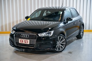 2016 Audi A1 8X MY16 Sportback S Tronic Black 7 Speed Sports Automatic Dual Clutch Hatchback.