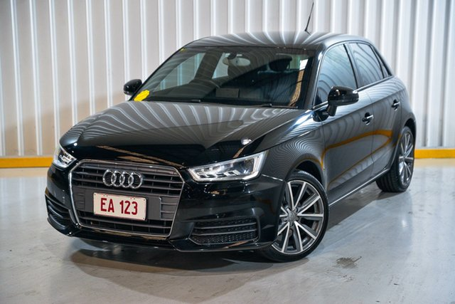 Used Audi A1 8X MY16 Sportback S Tronic Hendra, 2016 Audi A1 8X MY16 Sportback S Tronic Black 7 Speed Sports Automatic Dual Clutch Hatchback