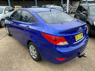 2012 Hyundai Accent RB Active Blue 5 Speed Manual Sedan.