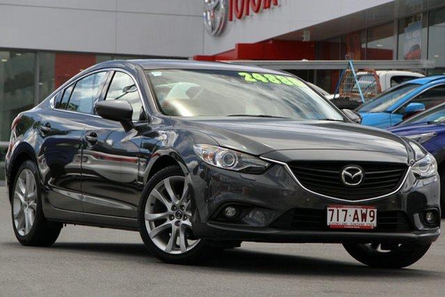Pre-Owned Mazda 6 GJ1031 Atenza SKYACTIV-Drive Woolloongabba, 2014 Mazda 6 GJ1031 Atenza SKYACTIV-Drive Grey 6 Speed Sports Automatic Sedan