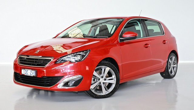 Used Peugeot 308 T9 Allure Thomastown, 2015 Peugeot 308 T9 Allure Red 6 Speed Sports Automatic Hatchback