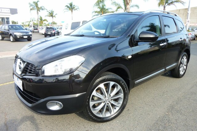 Used Nissan Dualis J10 Series II MY2010 +2 X-tronic AWD Ti Cheltenham, 2012 Nissan Dualis J10 Series II MY2010 +2 X-tronic AWD Ti Black 6 Speed Constant Variable Hatchback