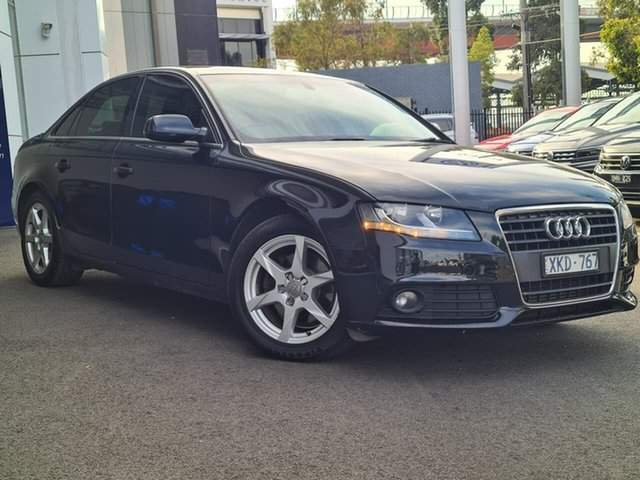 Used Audi A4 Port Melbourne, 2009 Audi A4 Black 4 Speed Automatic Sedan