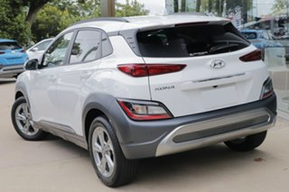 2020 Hyundai Kona Os.v4 MY21 Elite 2WD Atlas White 8 Speed Constant Variable Wagon.