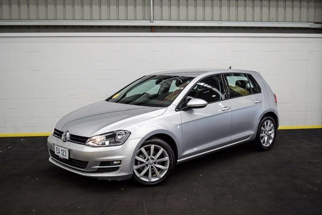 Used Volkswagen Golf VII MY14 103TSI DSG Highline Canning Vale, 2014 Volkswagen Golf VII MY14 103TSI DSG Highline Silver 7 Speed Sports Automatic Dual Clutch
