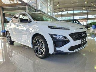 2020 Hyundai Kona Os.v4 MY21 N-Line D-CT AWD Atlas White 7 Speed Sports Automatic Dual Clutch Wagon