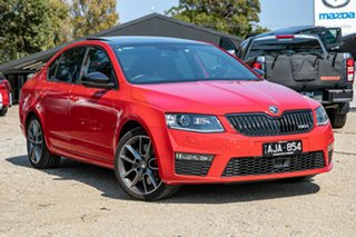 2015 Skoda Octavia NE MY15.5 RS Sedan DSG 162TSI Red 6 Speed Sports Automatic Dual Clutch Liftback.