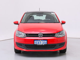 2013 Volkswagen Polo 6R MY13 66 TDI Comfortline Red 7 Speed Auto Direct Shift Hatchback.