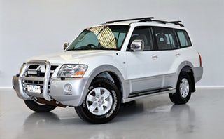 2002 Mitsubishi Pajero NP Exceed White 5 Speed Sports Automatic Wagon.