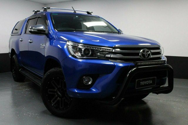 Used Toyota Hilux GUN126R SR5 Double Cab Rutherford, 2017 Toyota Hilux GUN126R SR5 Double Cab Blue 6 Speed Sports Automatic Utility