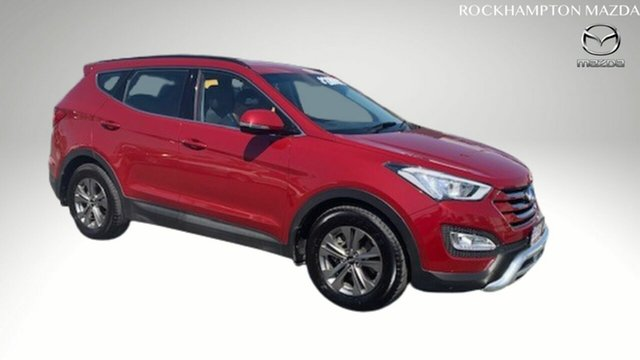 Used Hyundai Santa Fe DM3 MY16 Active North Rockhampton, 2015 Hyundai Santa Fe DM3 MY16 Active Red 6 Speed Sports Automatic Wagon
