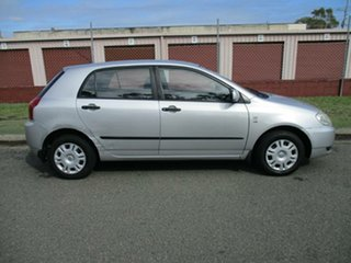 2003 Toyota Corolla ZZE122R Ascent Silver 5 Speed Manual Hatchback.