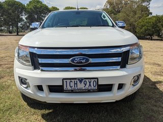 2014 Ford Ranger PX XLT Double Cab Cool White 6 Speed Sports Automatic Utility