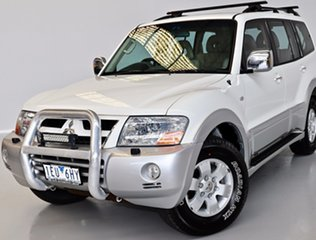 2002 Mitsubishi Pajero NP Exceed White 5 Speed Sports Automatic Wagon