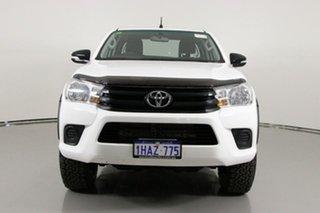 2015 Toyota Hilux GUN126R SR (4x4) White 6 Speed Manual X Cab Utility.