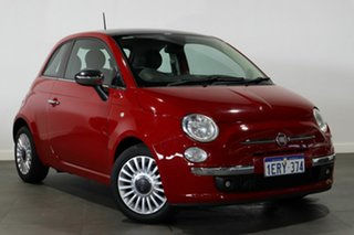 2013 Fiat 500 Series 1 Lounge Dualogic Red 5 Speed Sports Automatic Single Clutch Hatchback