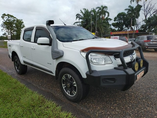 Used Holden Colorado RG MY13 LX Crew Cab Pinelands, 2013 Holden Colorado RG MY13 LX Crew Cab White 5 Speed Manual Utility