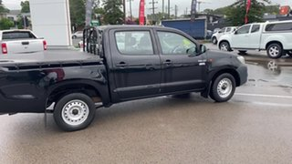 2014 Toyota Hilux TGN16R MY14 Workmate 4x2 Black 5 Speed Manual Cab Chassis.